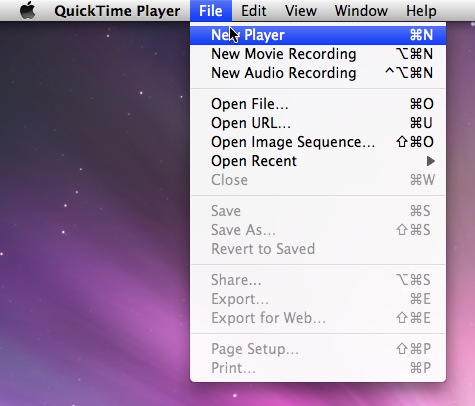 Combining Videos Using Quicktime Pro